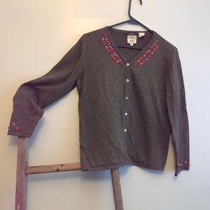 Cousin Johnny 100% cotton V neck cardigan sweater